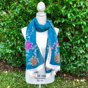 Accessories - NWOT Teal Floral Scarf